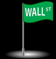 Wall street flag vector image