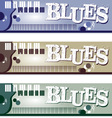 Blues Banners vector image vector image
