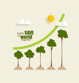 Green economy concept Graph of growing vector image