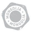 Mongolia stamp rubber grunge vector image