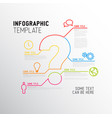 question mark infographic report template vector image