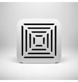 White Abstract App Icon Button Template vector image