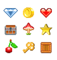 pixel objects for game vector image vector image