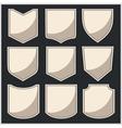Shields - set vector image