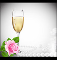 congratulatory champagne background vector image