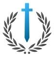 Sword Honor Embleme Gradient Icon vector image