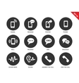 Mobile phone icons on white background vector image vector image