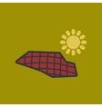 flat icon on stylish background solar panels vector image