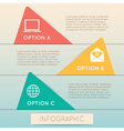 Color triangle template step option vector image