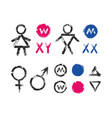 male female symbols wc toilet icons vector image