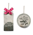 Merry Christmas Christmas greetings label vector image