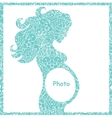 original of pregnant girl frame vector image