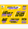 set of motivational quotes inspiring short vector image