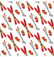 skiing seamless pattern vector image