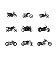 motorbike silhouette icons set vector image