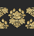 wallpaper in the style of baroque damask vector image vector image