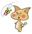 cat and butterfly vector image