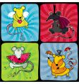 cartoon rats vector image