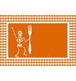 Halloween Skeleton Background vector image