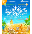 Vacation travel and summer holidays design vector image