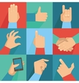 set of hands and gestures vector image