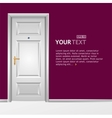 white door in the wall vector image