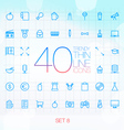 40 Trendy Thin Icons for web and mobile Set 8 vector image vector image