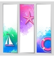 marine watercolor banners vector image