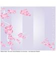 spring flower pattern with japanese haiku vector image