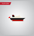 isolated transport flat icon cargo element vector image