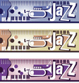 Jazz Banners vector image