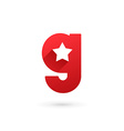 Letter G star logo icon design template elements vector image