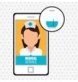 medicine online design vector image
