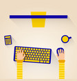 Modern design concept of creative office workspace vector image
