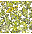Spring leaves seamless pattern vector image