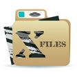 X files folder icon vector image