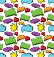Speech bubbles seamless colorful pattern vector image vector image