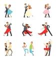 Professional Dancer Couple Dancing Tango Waltz vector image