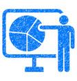 pie chart public report icon grunge watermark vector image