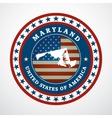 Vintage label Maryland vector image