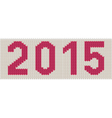 Woven 2015 number vector image vector image
