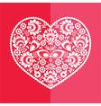 Valentines Day card - Polish folk art heart vector image vector image