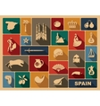 Traditional symbols of Spain vector image