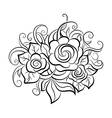 Decorative art flowers vector image