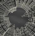 Chalk round city landscape vector image