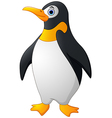 Cute funny emperor penguin vector image