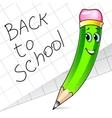 Cute pencil vector image
