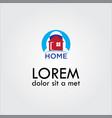 home sun logo vector image
