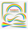 Rainbows different shape set Real Rainbow vector image