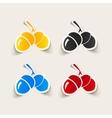 realistic design element acorns vector image
